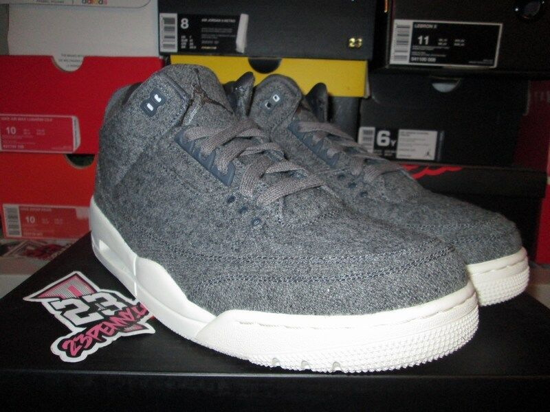 SALE 2016 AIR JORDAN III 3 RETRO WOOL grau SAIL Weiß 854263 004 DS TRUE Blau