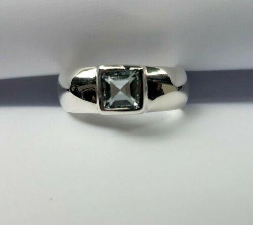 Sizes K L M N O P R T Sterling Silver Blue Topaz AAA Grade Heavy Ring