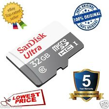 SANDISK 32GB ULTRA MICRO SD CLASS 10 MEMORY CARD 5 YEARS WARRANTY