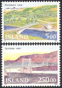 Iceland 1992 Bridges/Transport/Roads/Engineering/Architecture 2v set (n20276)