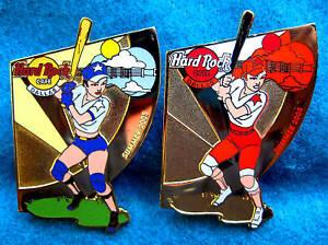 Prototipo-Dallas-Texas-Beisbol-Nina-Seasonal-Sports-Series-Hard-Rock-Cafe-2-Pin
