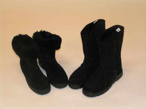 Womens Boots Sheepskin Shearling Black Sizes All Fur