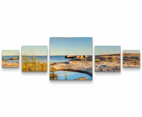 Landschaftsfotografie – Schweden am Meer Leinwandbild