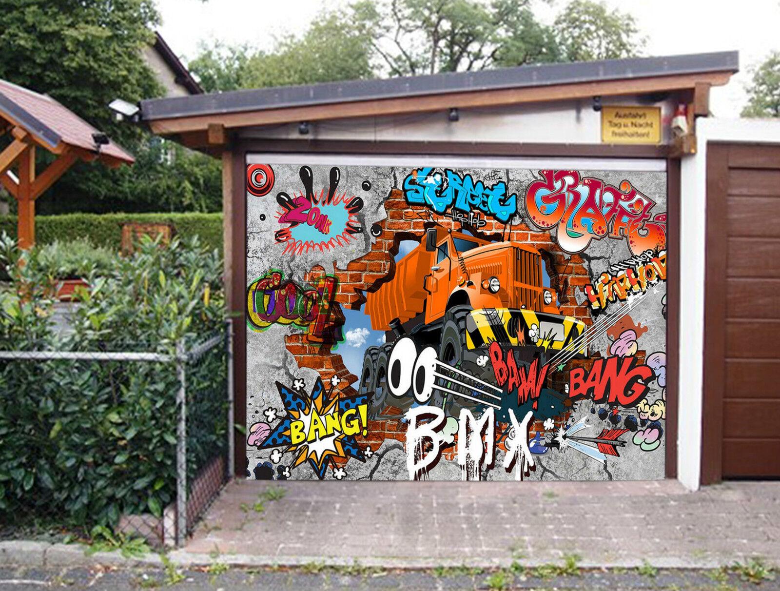 3D Camion Graffiti Garage Porta Stampe Parete Decorazione Murale AJ WALLPAPER IT