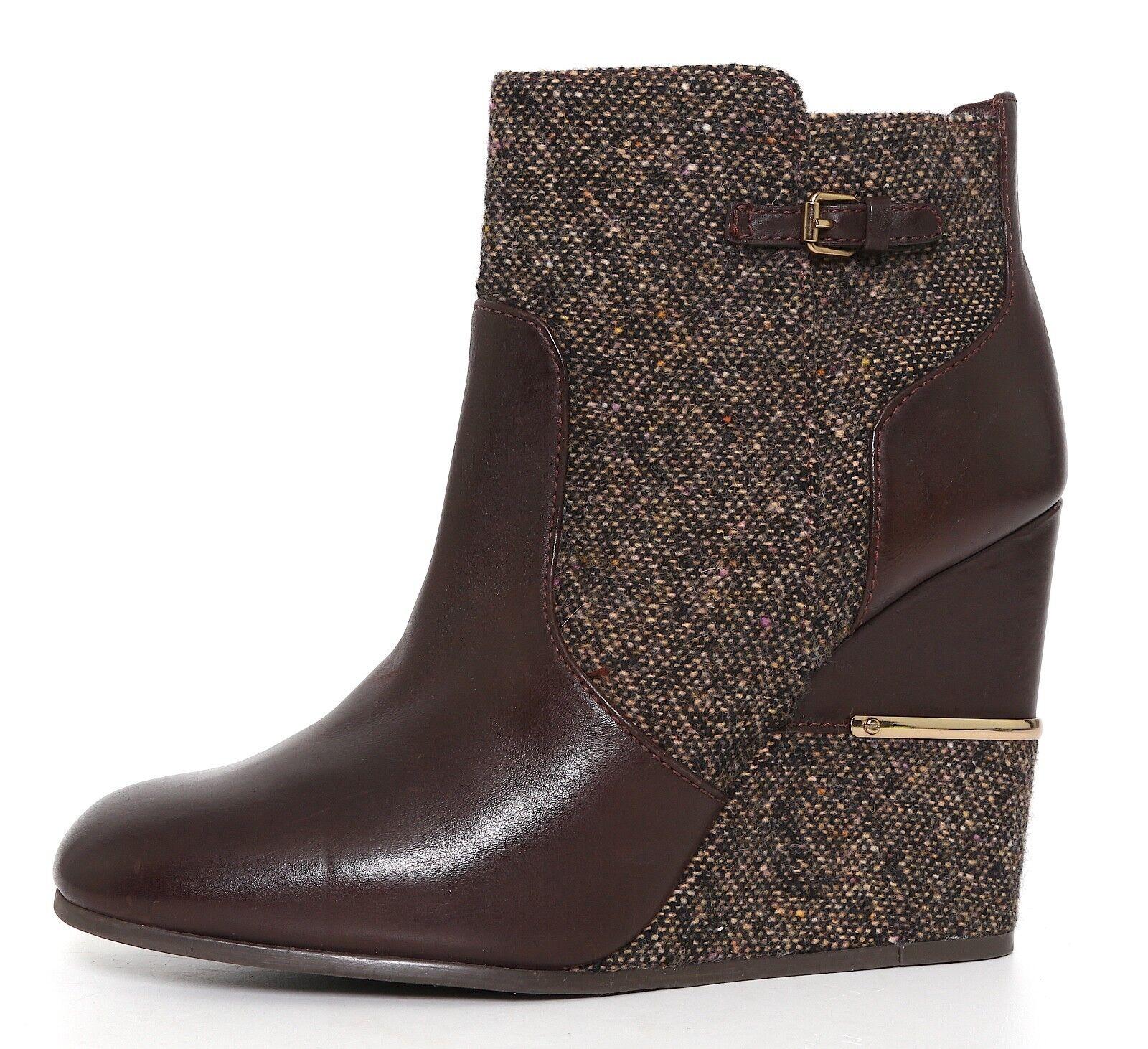 sport dello shopping online Tory Burch Cherie Wedge Leather avvioie Marrone donna donna donna Sz 10.5 M 1132  prezzo all'ingrosso