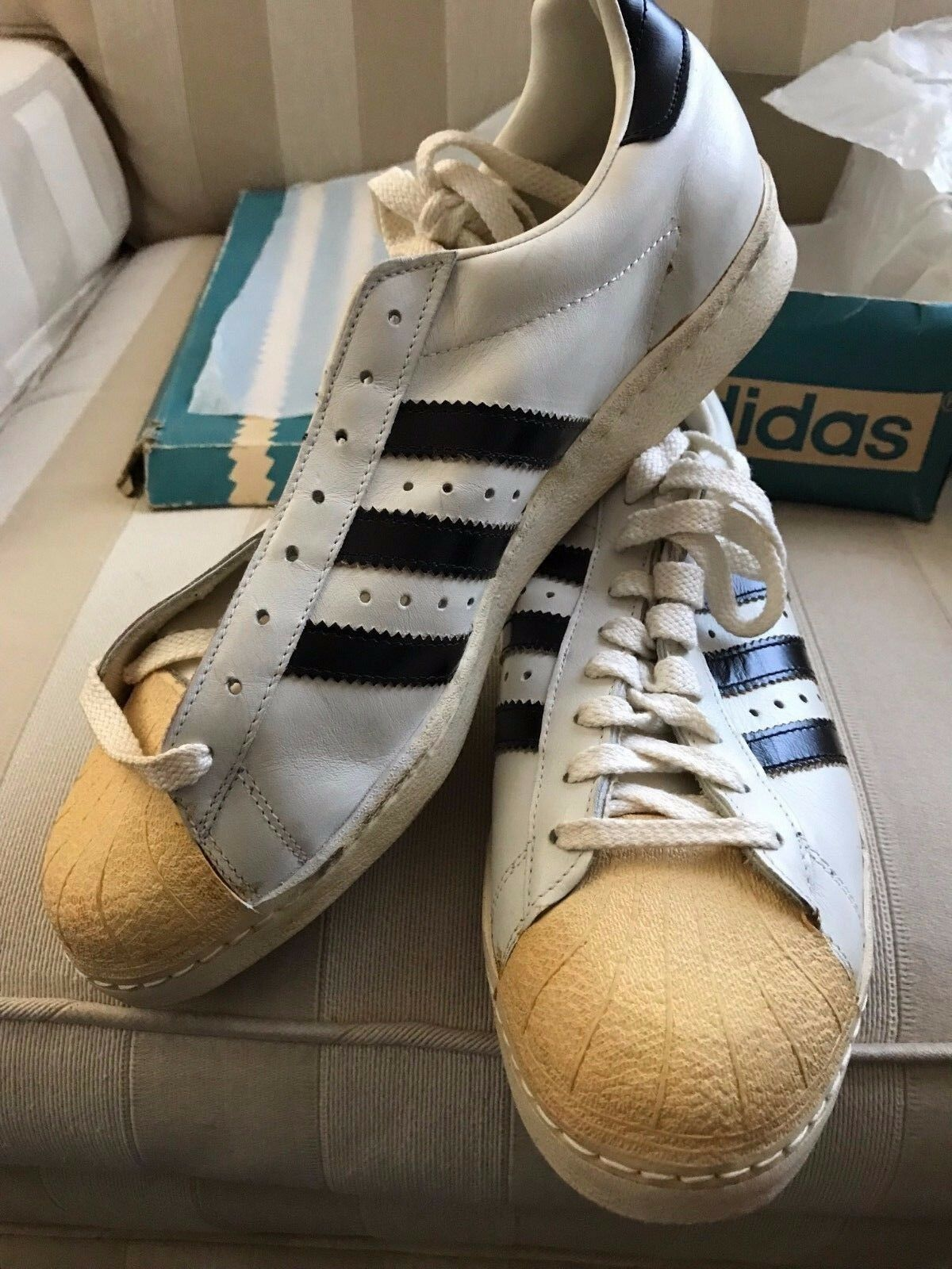 Adidas Superstar Men's US Size 11 Vintage 1972 NOS w/ Orig Box - THE REAL DEAL
