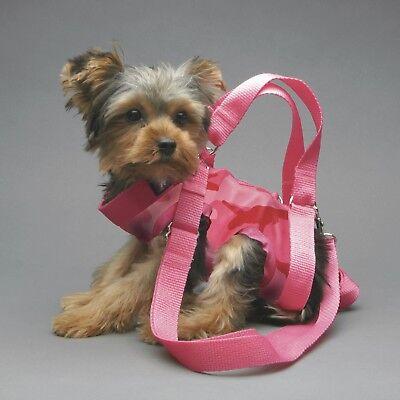 PINK CAMO small dog carrier harness sling puppy purse  M XXL XL