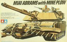 Tamiya 1:35 M1A1 Abrams with Mine Plow Plastic Model Kit #35158U