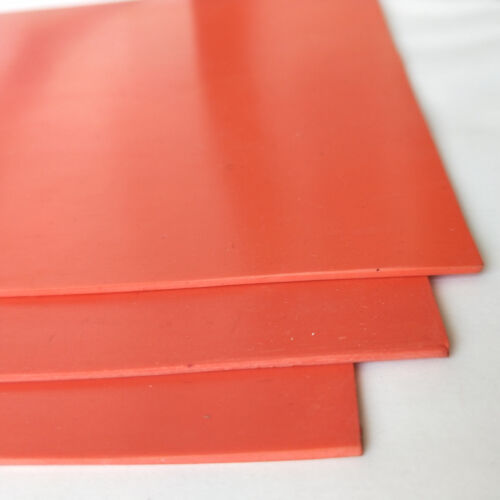 1Sheet Rubber orange 1.5mm for Laser Engraver Engraving Embossing Stamping Stamp