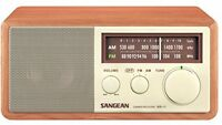 Retro Am/fm Table Top Radio Wooden Led Indicator Speaker Kitchen Radios on sale