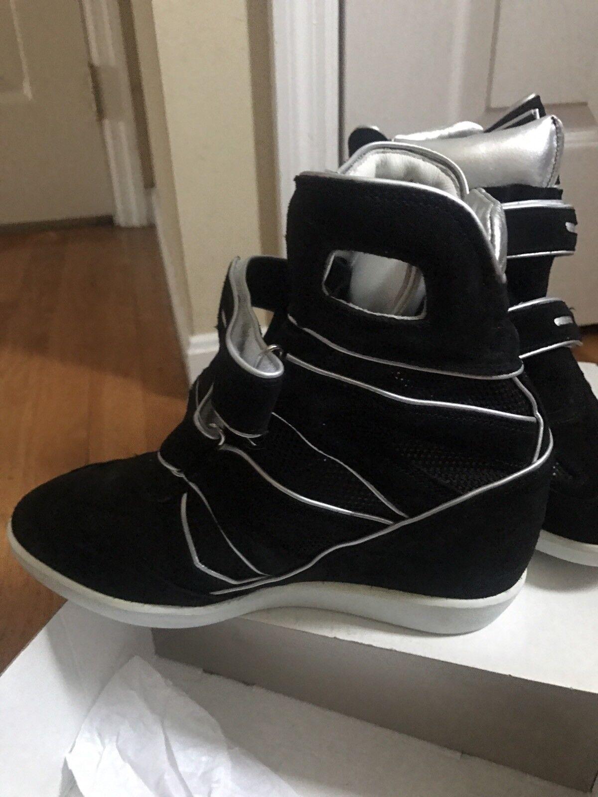 Laboratorio Corte black Pointu Baskets Véritable Daim  maille Sz 10