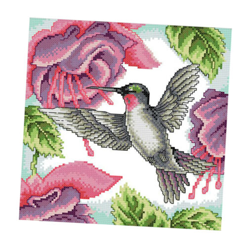 11CT//14CT Bird /& Flowers Cross Stitch Kits Stamped Embroidery Craft DIY