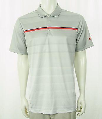 Adidas PureMotion Coolmax Gray Golf Polo Shirt Mens Medium