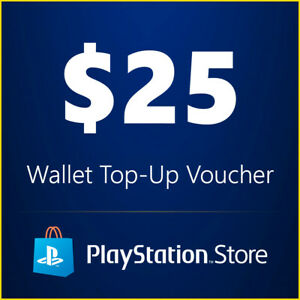 Details about Playstation Network $25 USD 25 Dollar PSN US Store Card -  Digital Code PS4 PS3