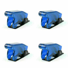4pcs Toggle Switch Boot Plastic Safety Flip Cover Cap 12mm Clear Blue Fn