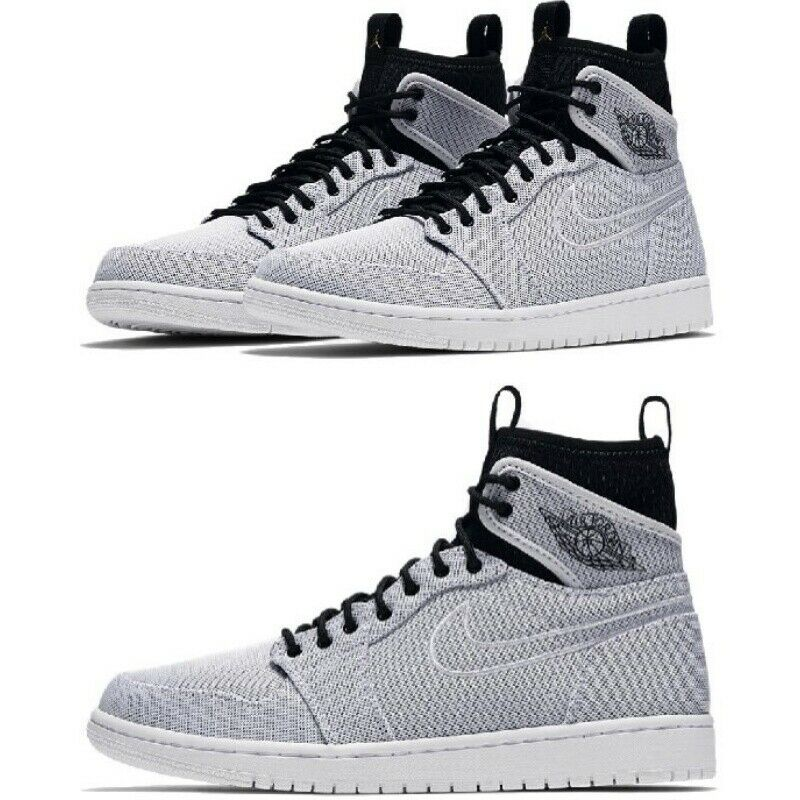 Nike Air Jordan 1 Retro Ultra High White Black Men AJ1 844700-132 Size 7-11