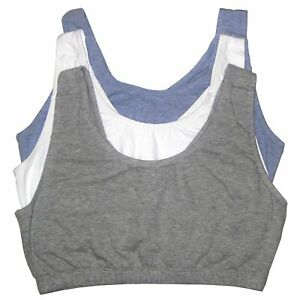 Fruit of the Loom Womens Built-up Sports Bra 3 Pack
