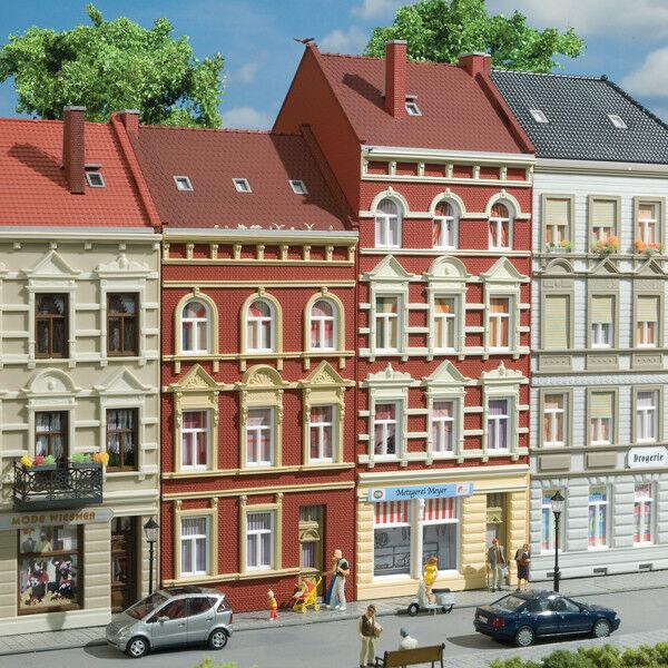 Auhagen kit 11417 NEW HO 3 AND 4 STORY BUILDINGS SCHMIDTSTRASSE  27 29