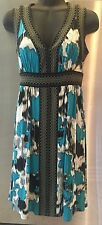 $188 NEW MAX AND CLEO BY BCBG BLUE SLEEVELESS LAGOON JERSEY DRESS NORDSTROM XS