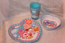 NEW CARE BEARS  DINNERWARE , PLATE, BOWL AND CUP  MELAMINE