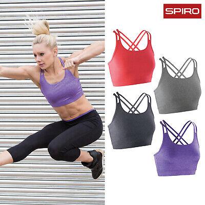 Spiro Womens Ladies Training Gym Activewear Fitness Crop Top S274F