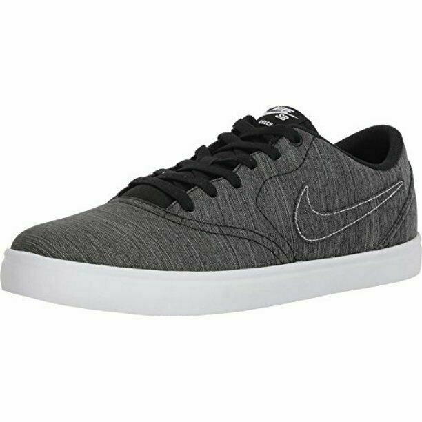 Size 8.5 - Nike SB Check Solarsoft Canvas Premium Black White for ...