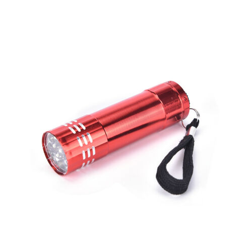Mini UV Ultra Violet 9 LED Flashlight Blacklight Light Inspection Lamp Torch^^
