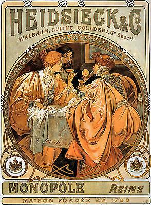 Berthe de Lalande Alphonse Alfons Mucha Art Nouveau Deco Picture Poster Print