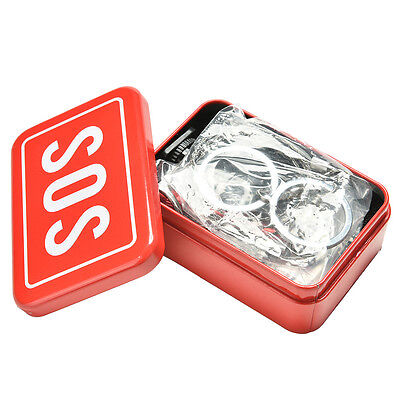 SOS Survival Emergency Gear Self Help Outdoor Camping Hiking Tools Box Kit Set