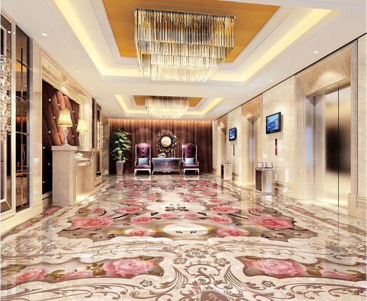 3D fiore pink terreno Pavimento Foto Wallpaper Murales Muro Stampa Decalcomania