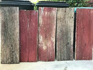 "ANTIQUE RUSTIC 12"" X 36"" RED BARN WOOD SIDING WEATHERED BOARD RECLAIMED LUMBER"