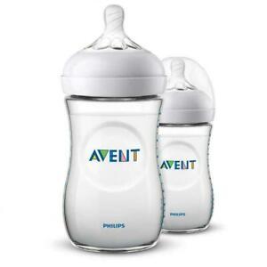 Philips-PH-SCF033-27-Avent-Natural-Newborn-Feeding-Bottle-2-x-260-ml-Transparent