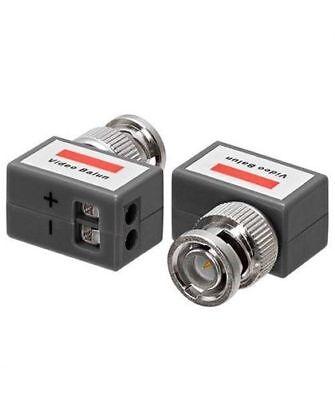 2 CCTV Coax BNC Video Power Balun Transceiver Adapter Cat5e Right Angle Lot