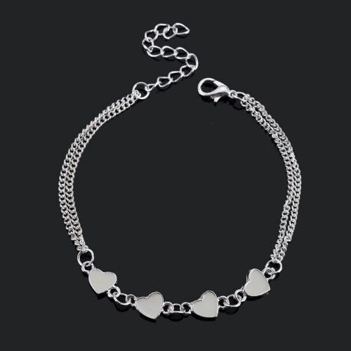 Star Heart Flower Ankle Bracelet Glow in the Dark Anklet Women/'s Jewelry Party
