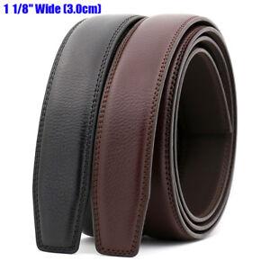 Cinturón automático de cuero genuino para hombres sin hebilla de ancho 3.0 cm