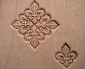Image Is Loading 014 04 Fleur De Lis Leather Stamp Homemade