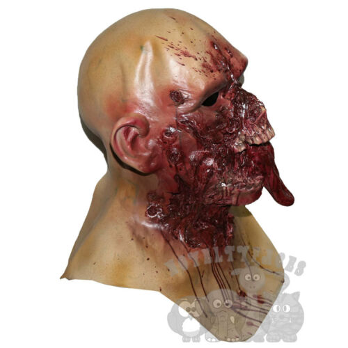 Popular Halloween Costume Walking Dead Zombie with Chest Horror Head Latex Mask