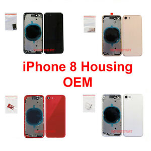 OEM-Replacement-Back-Housing-Frame-Battery-Glass-Door-Cover-Fits-Apple-iPhone-8