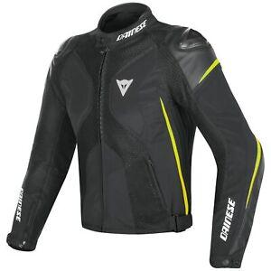 Dainese Super Rider D-Dry Motorcycle Waterproof Jacket - Blk/Fluro Yel - UK44
