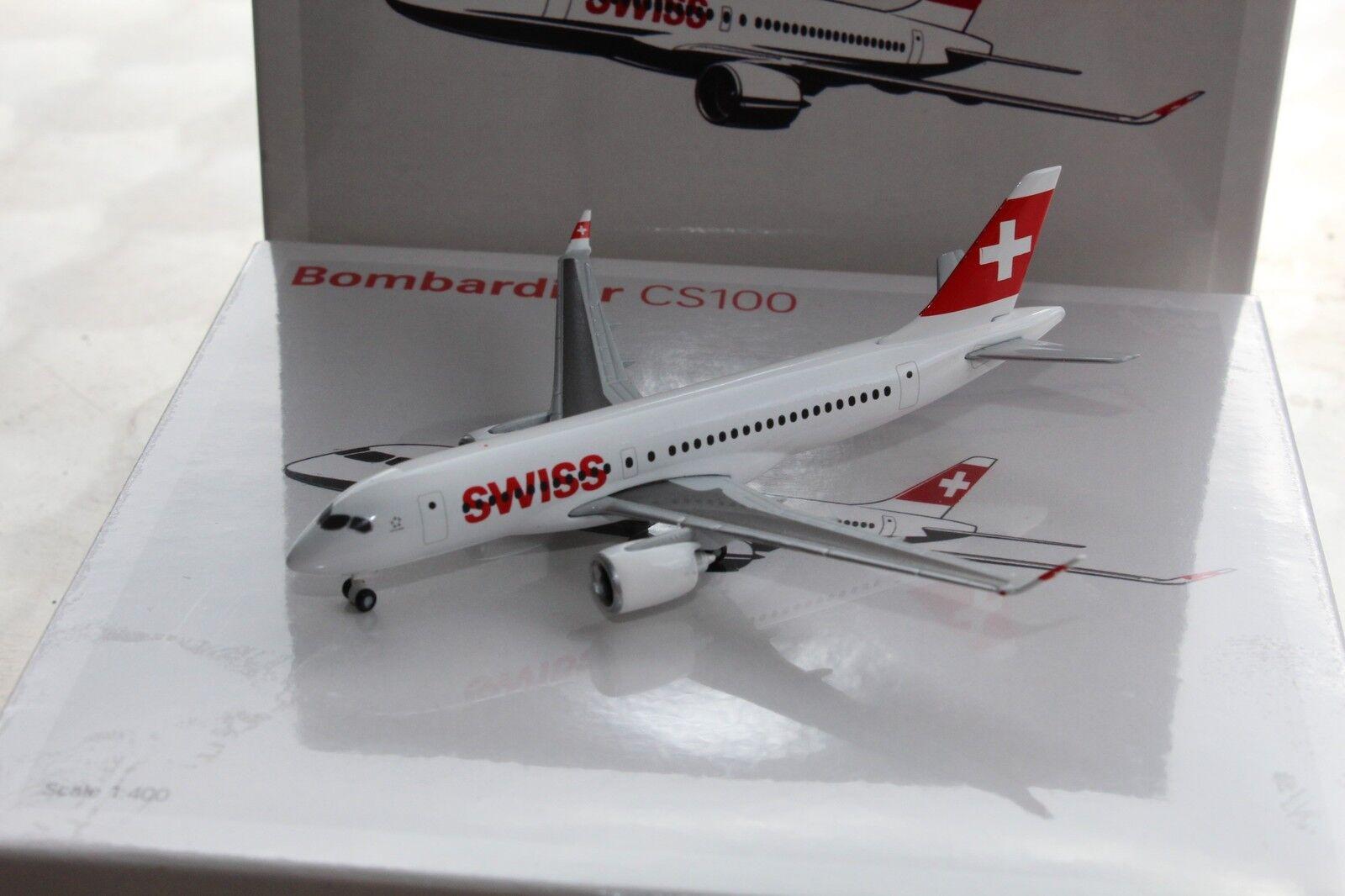 SWISS Bombardier CS100, 1 400, Corporate Modell für Swiss