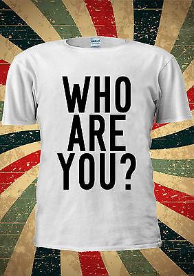 Who Are You Instagram TUMBLR Fashion T Shirt Men Women Unisex 1383