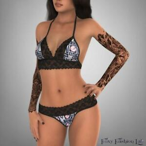 New-York-Yankees-square-fabric-lace-top-and-g-string-lingerie
