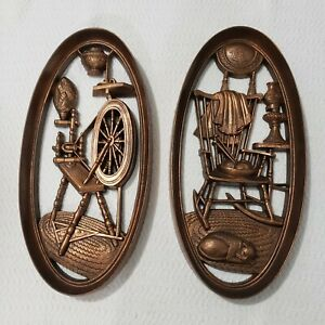 2-Molded-Plastic-4364-4365-Burwood-Products-Wall-Hangings-Rocking-Chair-Sewing