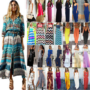 Women-Maxi-Long-Dress-Boho-Gypsy-Party-Evening-Summer-Beach-Sundress-Plus-Size