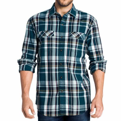 New Men/'s G.H Bass /& Co Mountain Twill Woven Plaid Shirt Size Big 3XL MSRP $74