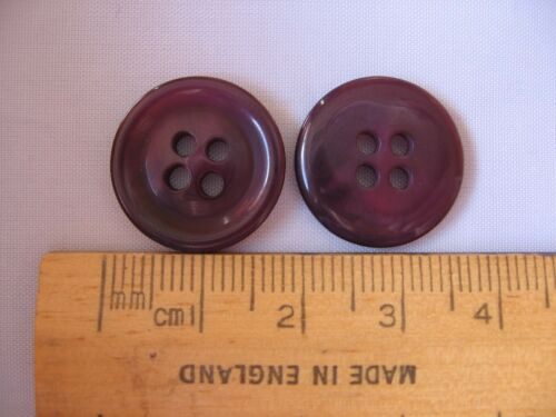 10 pk Shades of Purple plastic Buttons 18mm sewing knitting 4 hole British P184J