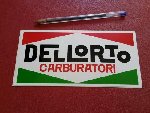 DELLORTO CARBURATORI NOS vintage sticker Autocollant Adesivo Dell/'Orto Magnésium