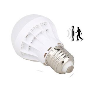 led lampe licht birne mit radar bewegungssensor bewegungsmelder 9w e27 wei neu ebay. Black Bedroom Furniture Sets. Home Design Ideas