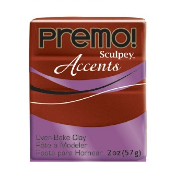 BRONZE METAL 2oz BLOCK SCULPEY PREMO ACCENT POLYMER OVEN BAKE MODELLING CLAY 57g