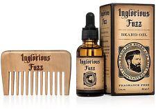 Inglorious Fuzz Beard Oil With Beard Comb BEST BEARD HAIR SKIN CONDITIONER